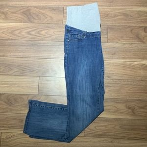 thyme maternity blue jeans